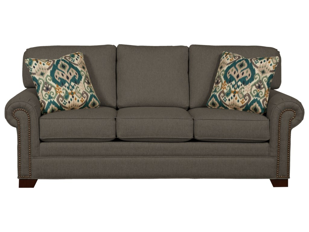 Craftmaster 7565Queen Sleeper Sofa with Memory Foam Mattress