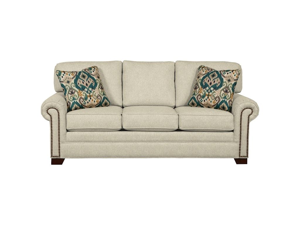 Craftmaster 7565Queen Sleeper Sofa with Memory Foam Mattress