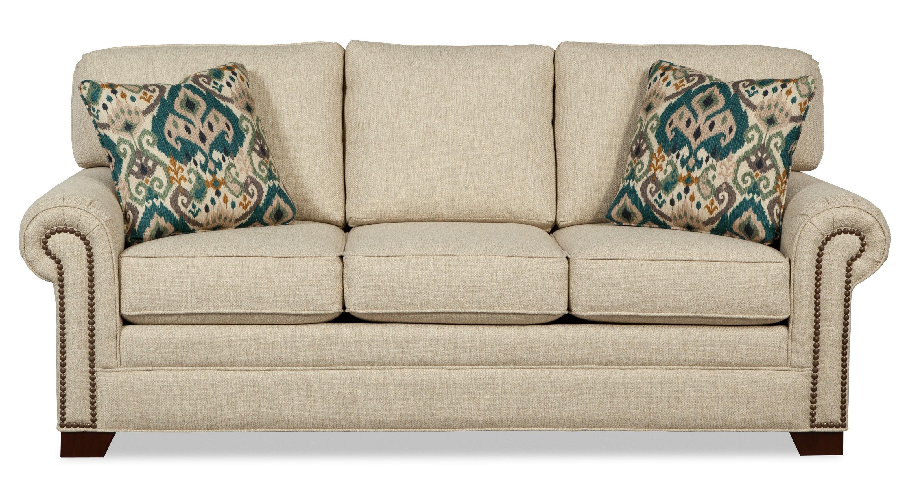 Craftmaster 7565Queen Sleeper Sofa With Memory Foam Mattress ...