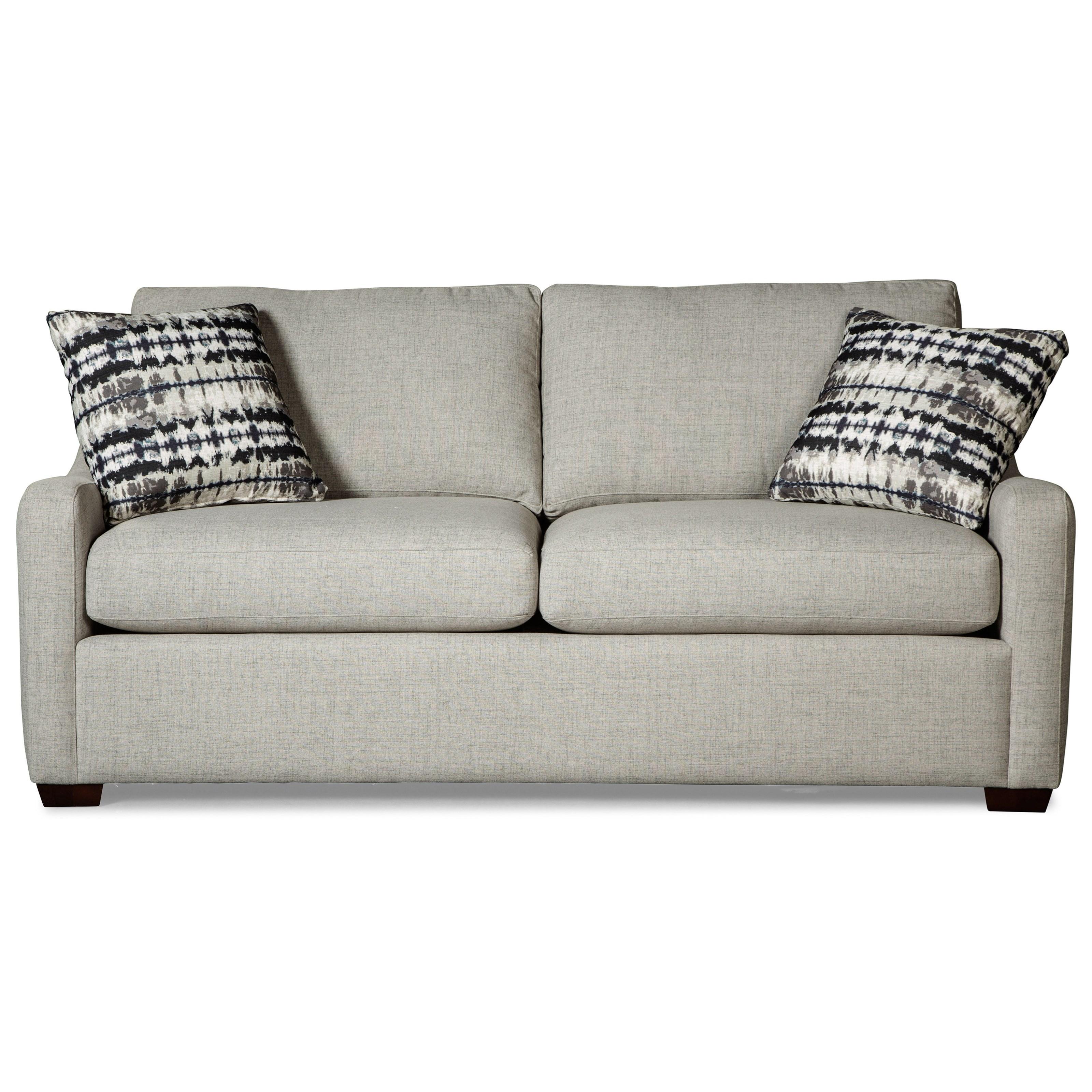 Craftmaster 7643Queen Sleeper Sofa With Memory Foam Mattress ...