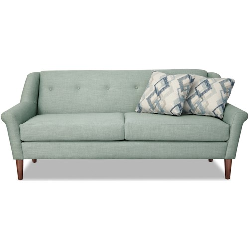 Craftmaster 7671 Mid Century Modern Inspired Small Scale Sofa