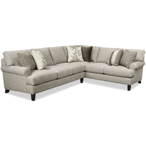 Craftmaster 767350-767450-767550-767650 Two Piece Sectional Sofa with RAF Corner Sofa