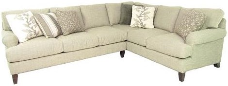 Cozi Life Upholstery 767350-767450-767550-767650 Two Piece Sectional Sofa with RAF Corner Sofa