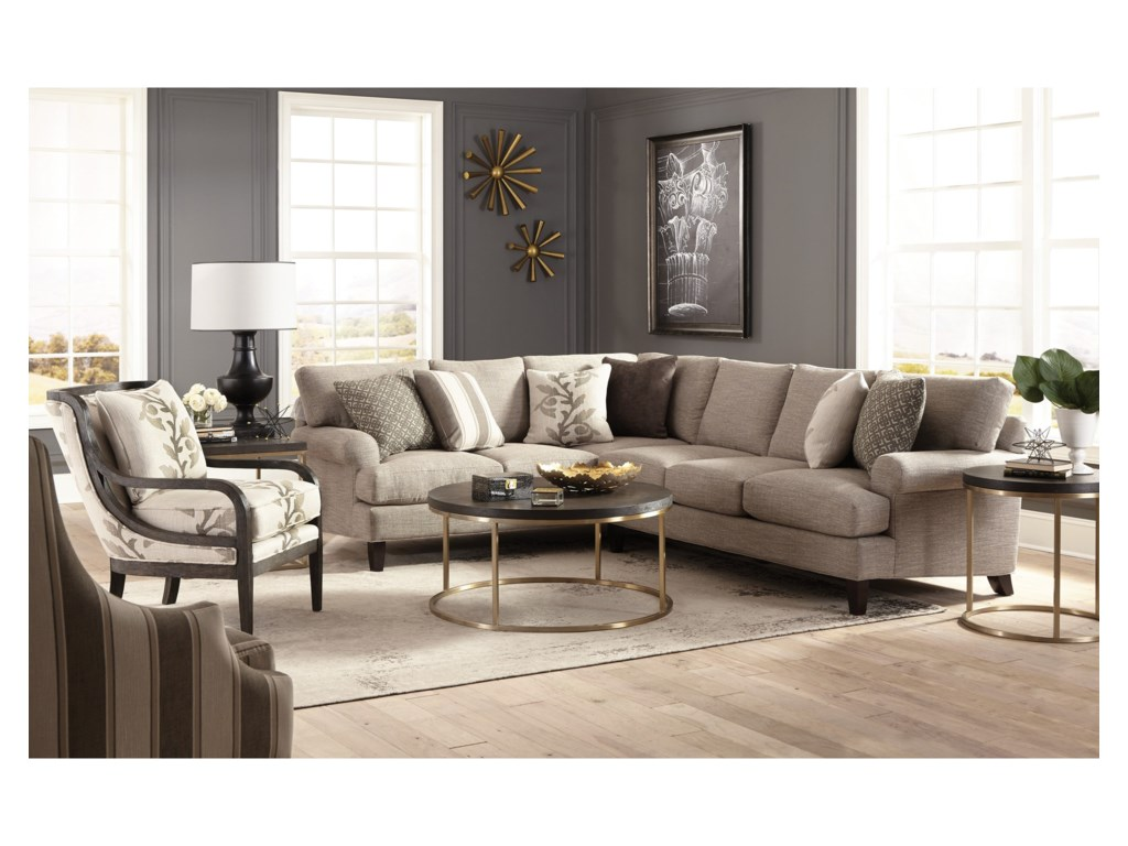 Craftmaster 767350-767450-767550-7676502 Pc Sectional Sofa w/ LAF Corner Sofa