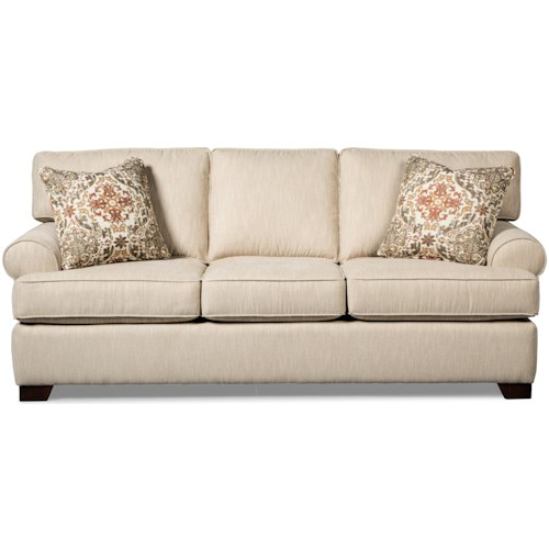 Craftmaster 767750 Casual Sofa with Rolled Arms