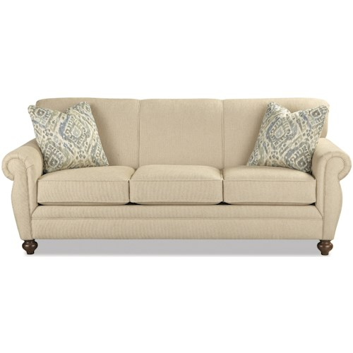 Craftmaster 7679 Traditional Innerspring Sleeper Sofa with Rolled Arms and Rolled Back