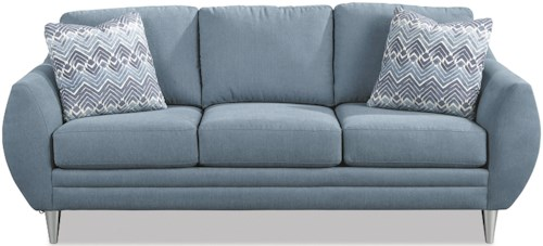 Craftmaster 768100-768200 Modern Sofa with Bowed Arms
