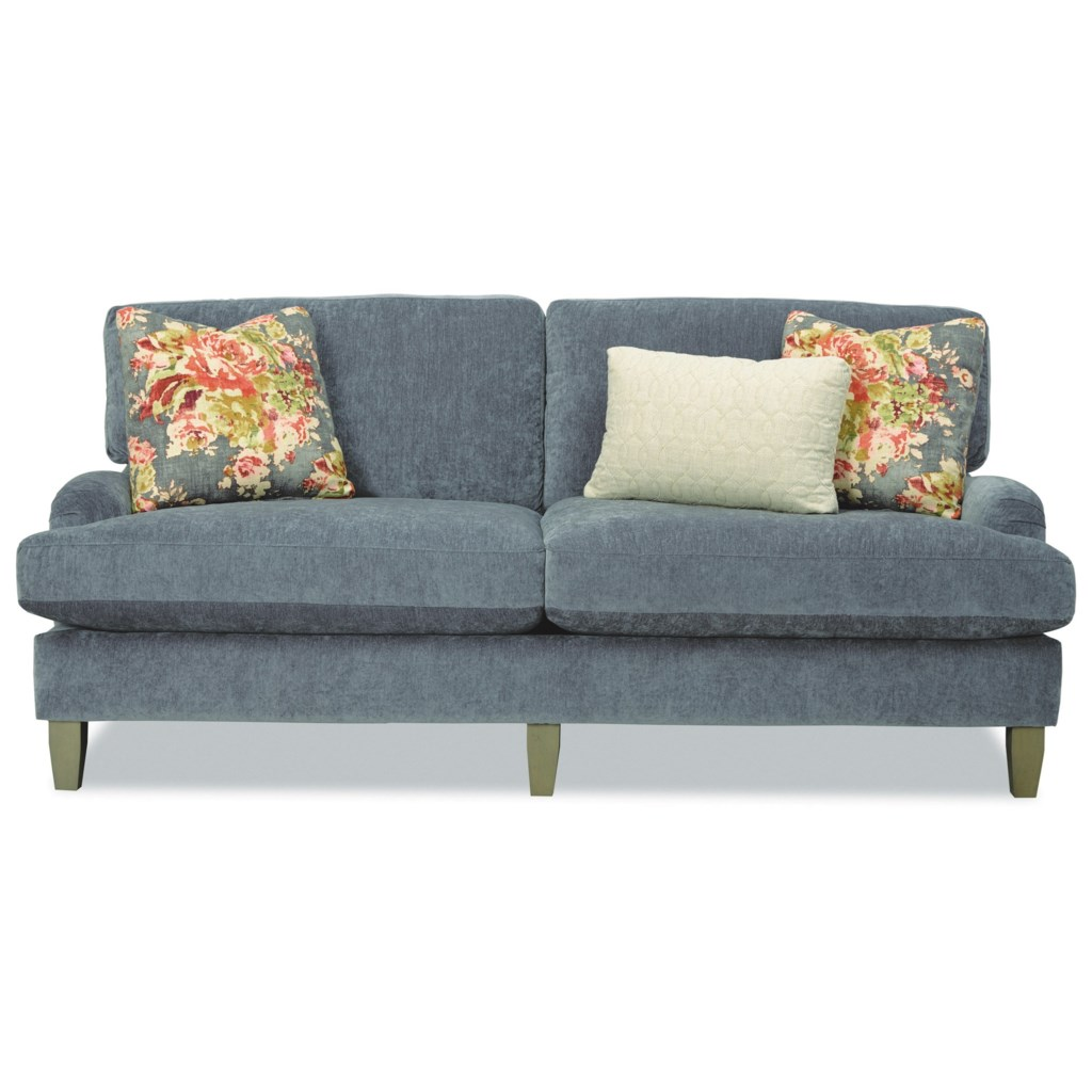 Craftmaster 7684 768450 Two Seat Apartment Size Sofa With English