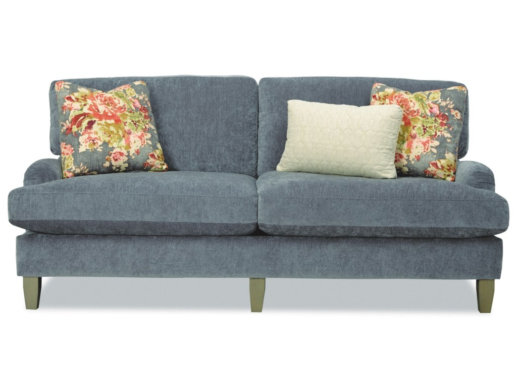 Craftmaster 7684 Two Seat Apartment-Size Sofa with English Arms ...