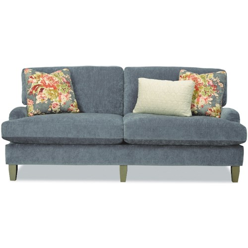 Craftmaster 7684 Two Seat Apartment-Size Sofa with English Arms