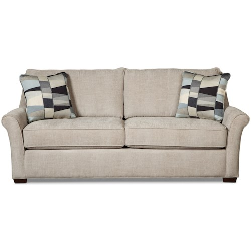 Craftmaster 7686 Transitional Queen Sleeper Sofa with Innerspring Mattress