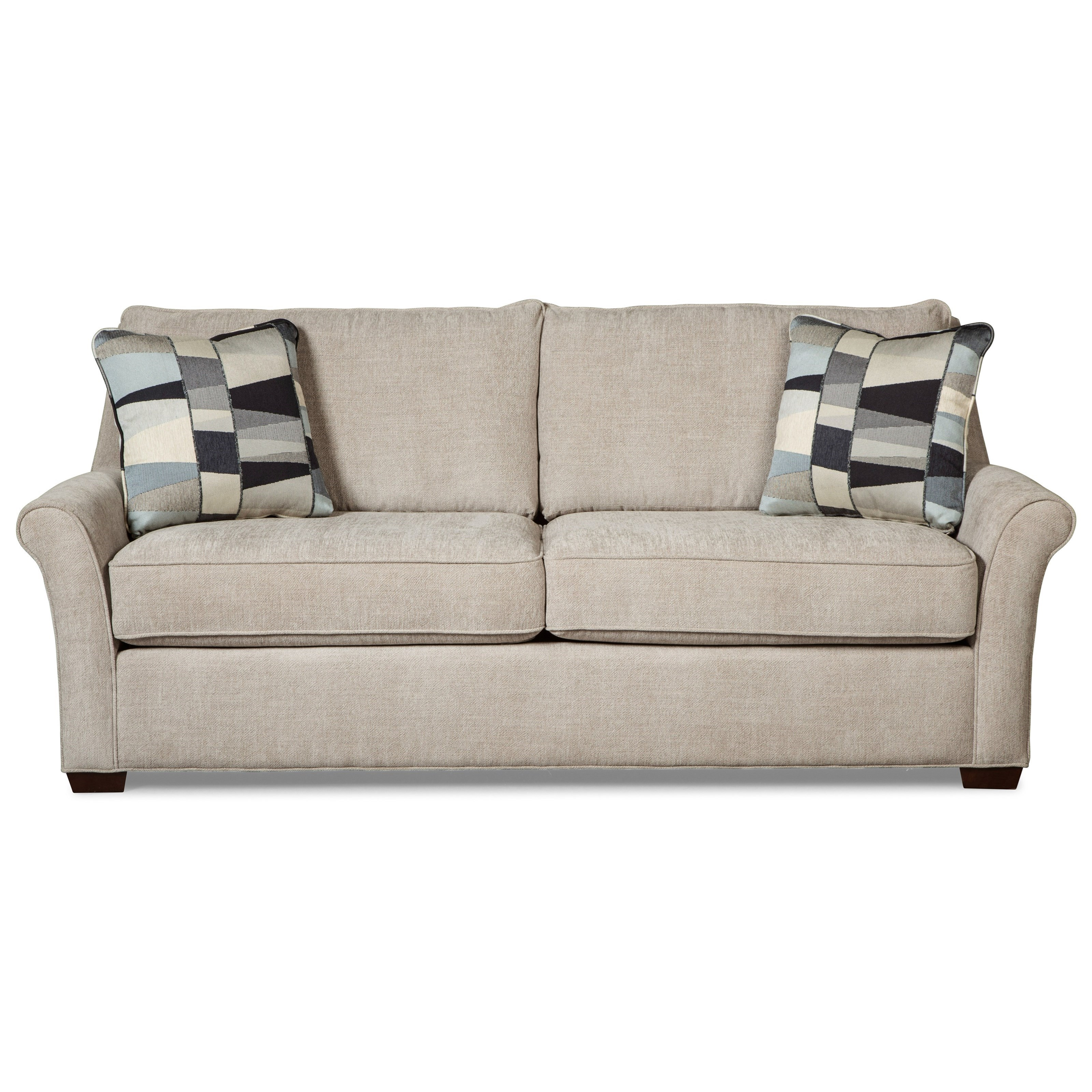 Craftmaster 7686Queen Sleeper Sofa W/ Memory Foam Mattress ...