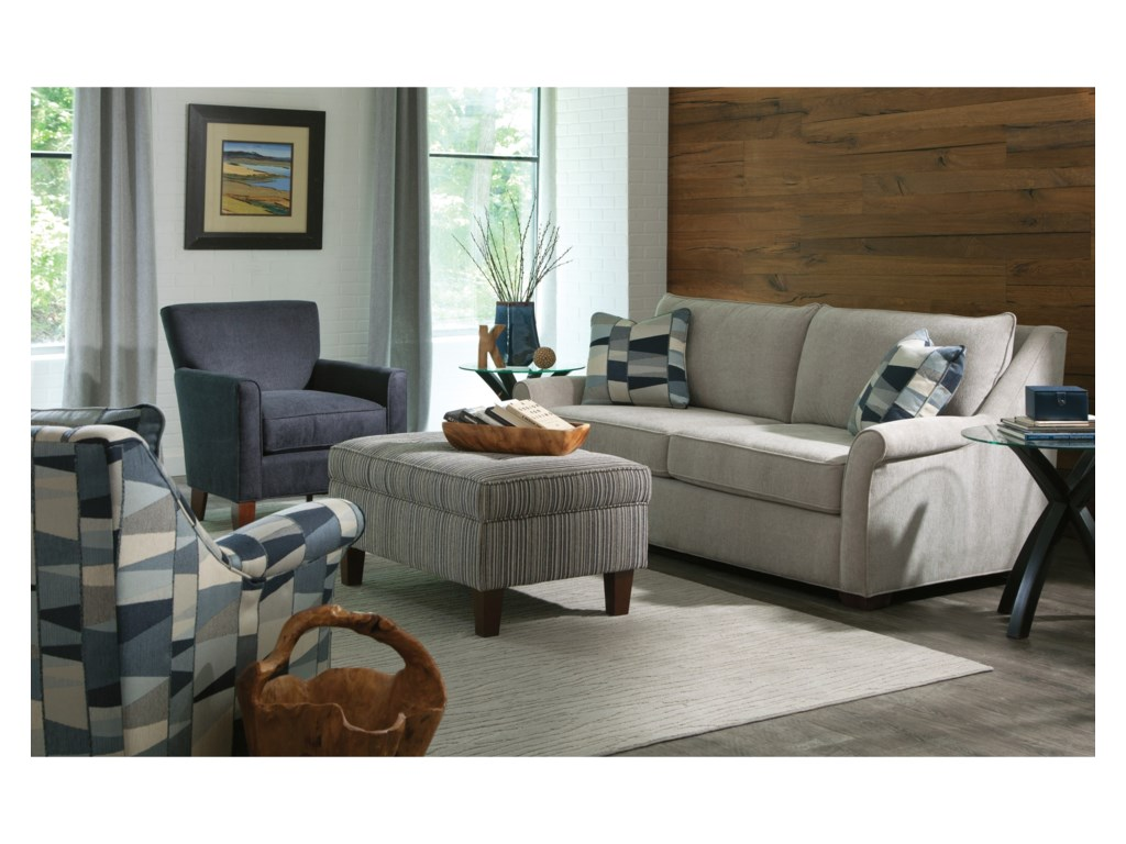 Craftmaster 7686Queen Sleeper Sofa w/ Memory Foam Mattress