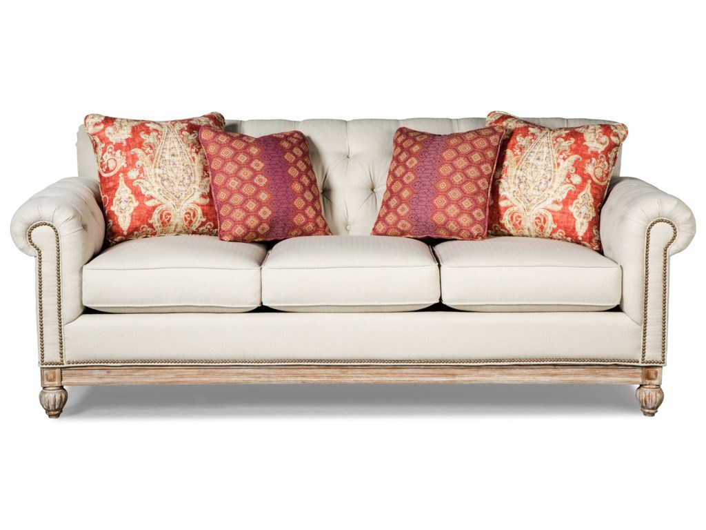 Craftmaster 7688-7689Sofa w/ Light Brass Nails