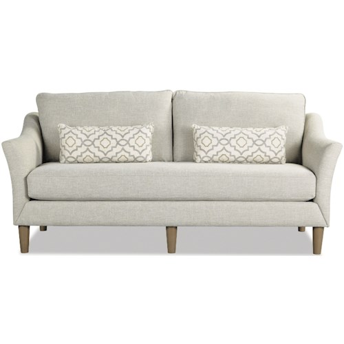 Craftmaster 7691-7692 Contemporary Sofa with Bench Seat and Built-In USB Port