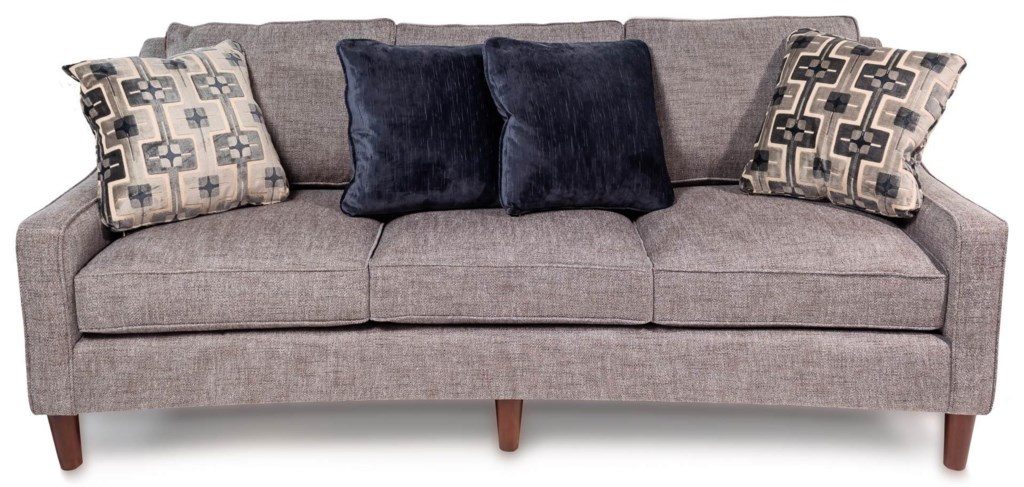 Cozy Life Maeve Casual Sofa With Curved Front Rail Rotmans Sofas