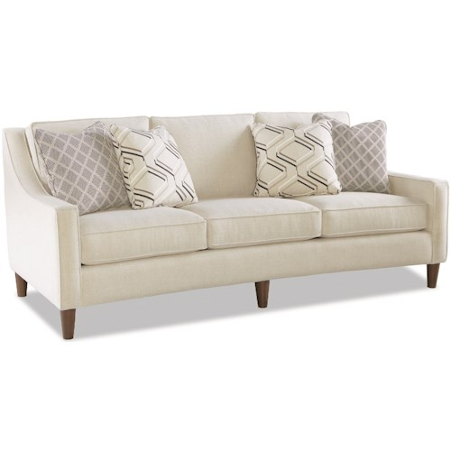Craftmaster 7696 Casual Sofa with Curved Front Rail