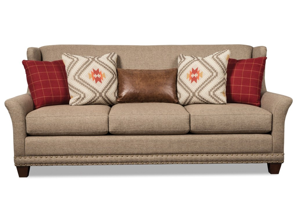 Craftmaster 7698Sofa w/ Brass Nails