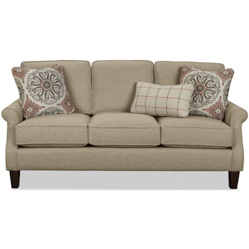Craftmaster 7719 Apartment Size Sofa with Rolled Arms