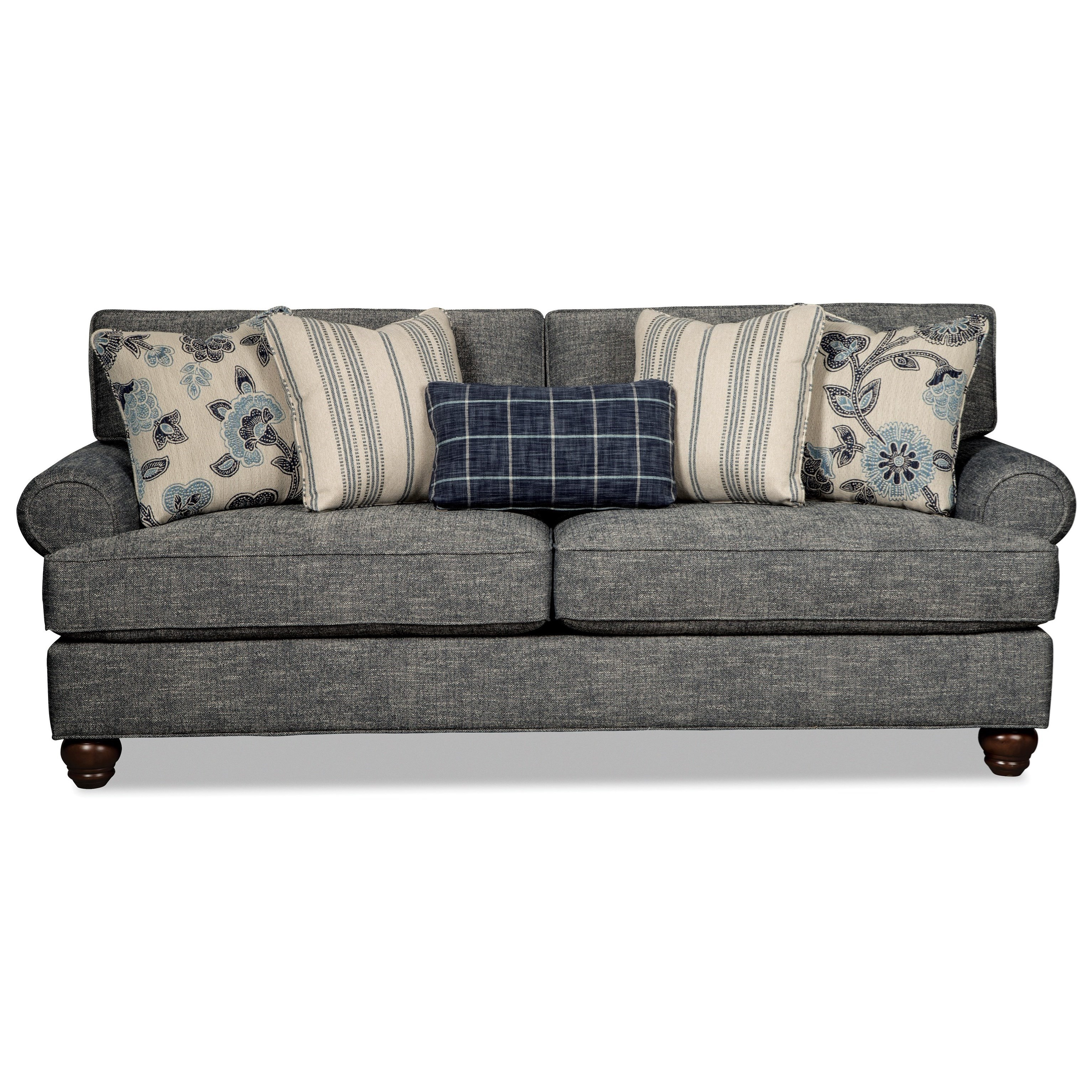 traditional sleeper sofa tan hickorycraft 773550 traditional queen sleeper sofa with sockrolled arms