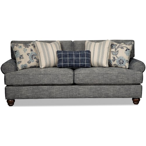 Craftmaster 773550 Traditional Queen Sleeper Sofa with Sock-Rolled Arms