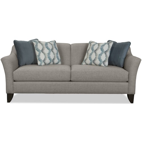 Craftmaster 774350 Contemporary Sofa with Tall Flared Arms