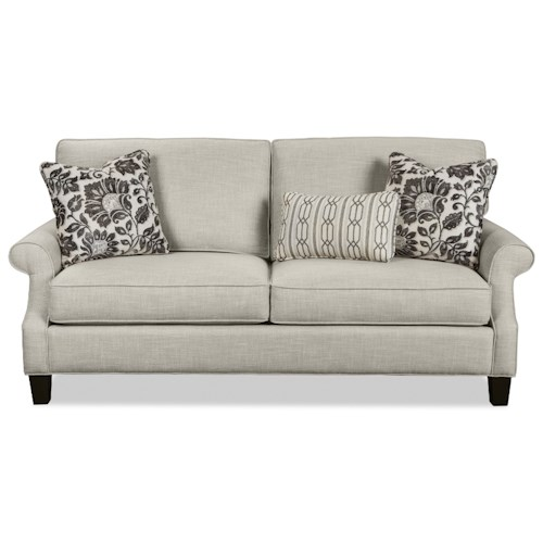 Craftmaster 774550 Casual Two Over Two Cushion Sofa