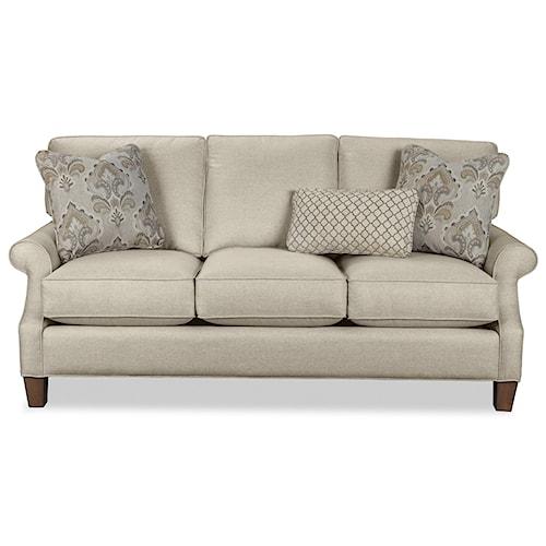 Craftmaster 7745 Casual Three Over Cushion Sofa