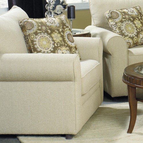 Craftmaster 7748 Casual Chair with Sock Arms