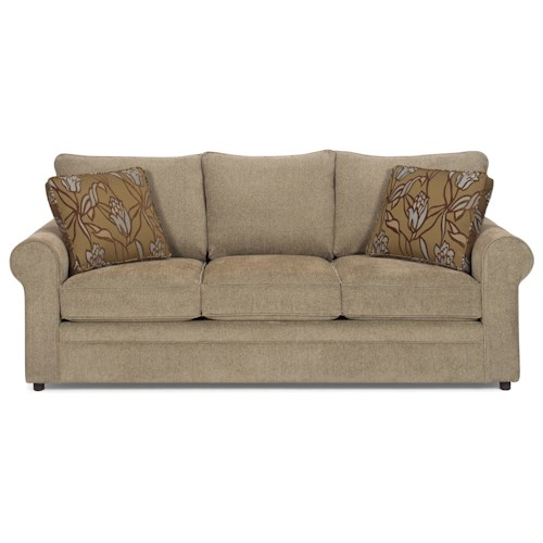 Craftmaster Abbey Casual Stationary Sofa with Sock Arms