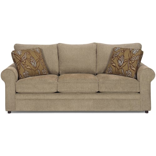 Craftmaster 7748 Casual Stationary Sofa with Sock Arms