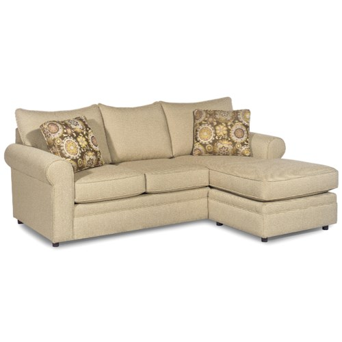 Hickory Craft 7748 Casual Sofa With Chaise And Sock Arms Godby Home Furnishings Sectional