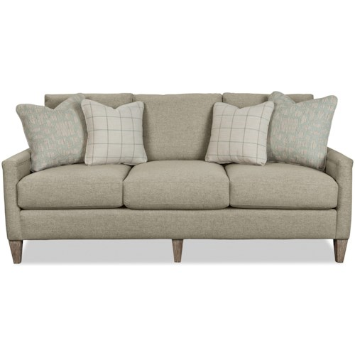 Craftmaster 776650-776750 Casual Apartment Sofa with Welt-Trimmed Arms