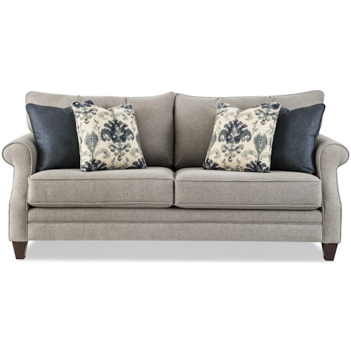 Craftmaster 776850 Transitional Sofa with Sock-Rolled Arms