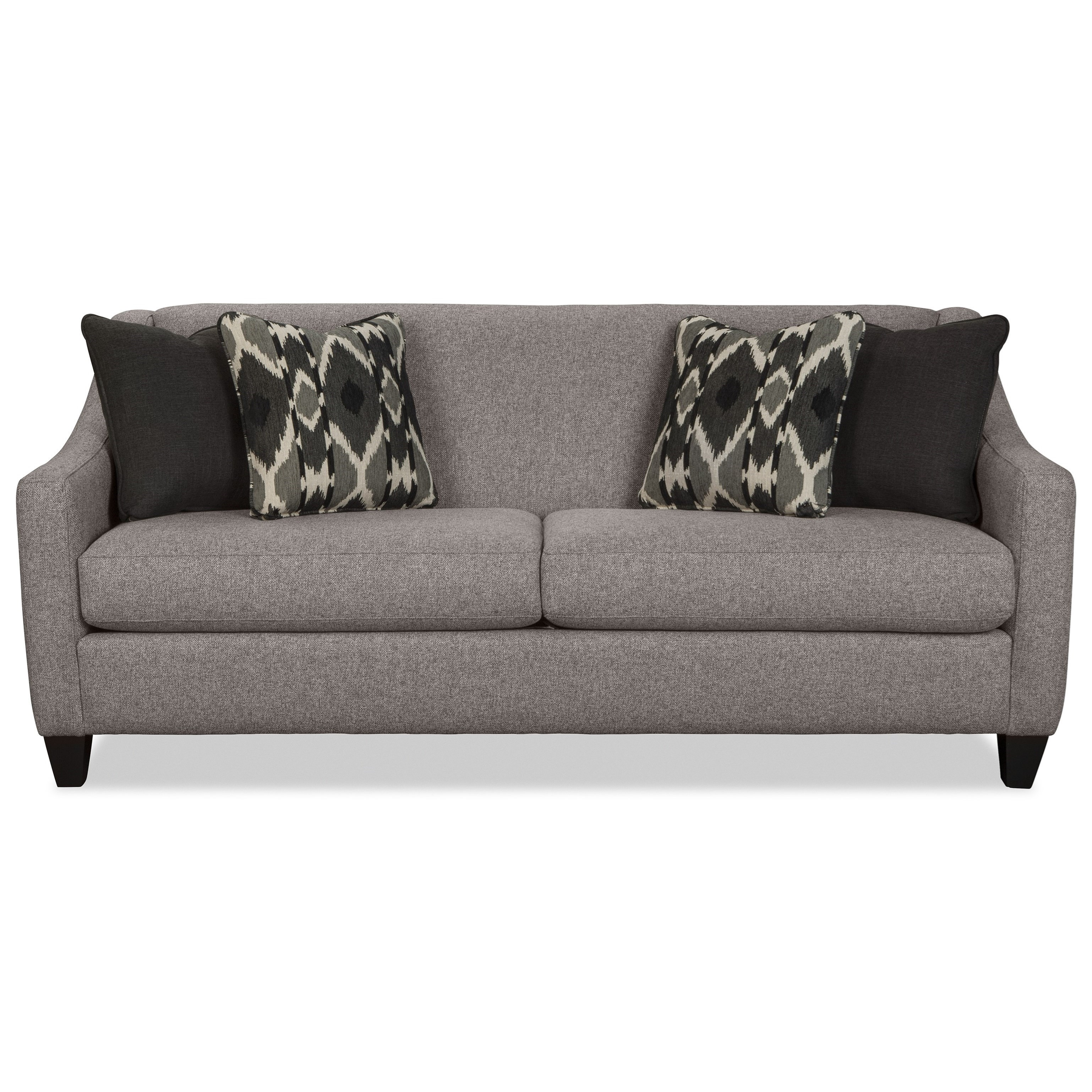 Hickorycraft 776950 Contemporary Queen Sleeper Sofa With Memory Foam  Mattress