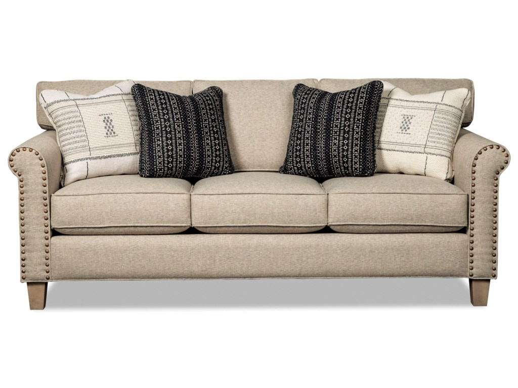 Craftmaster 778850 Transitional Sofa with Brass Nails   Miskelly ...