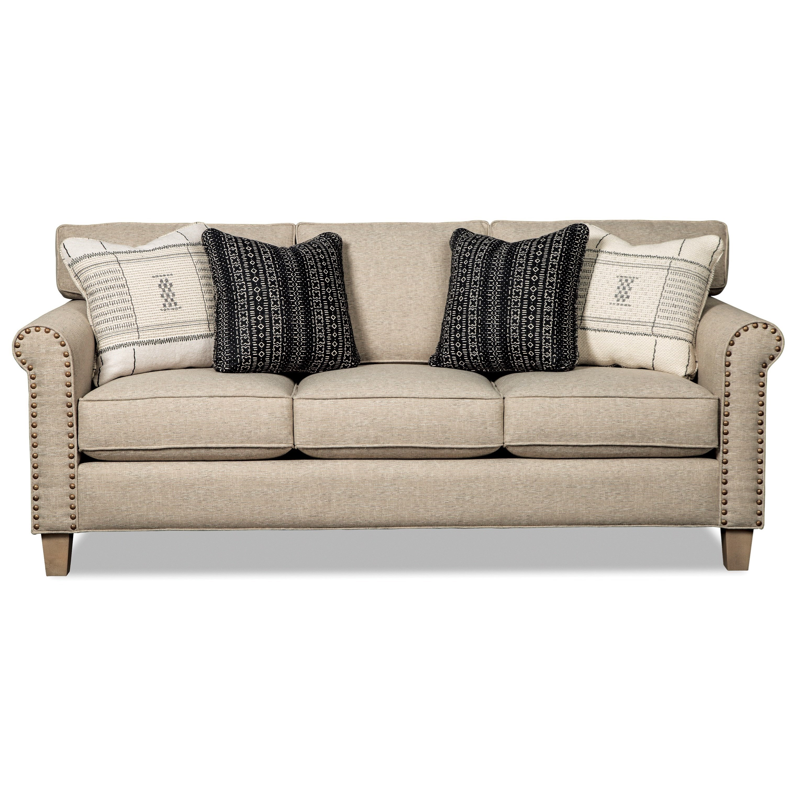 Merveilleux Hickory Craft 778850 Transitional Sofa With Brass Nails