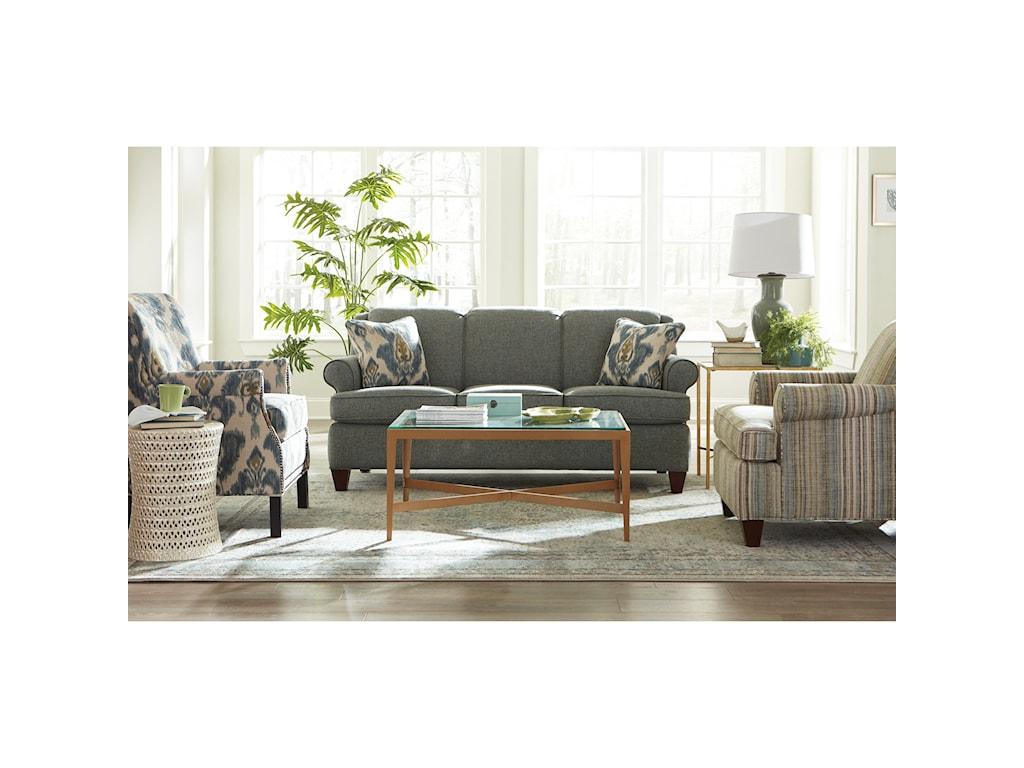 Craftmaster 781850Full Size Sleeper Sofa w/ MemFoam Mattress