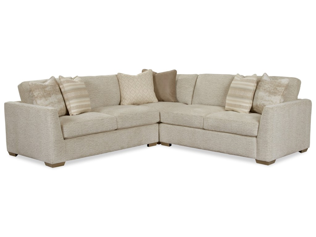 Craftmaster 7839504-Seat Sectional Sofa