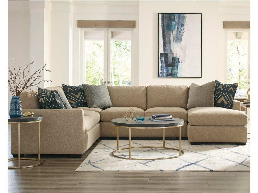 Craftmaster 7839505-Seat Sectional Sofa with RAF Chaise