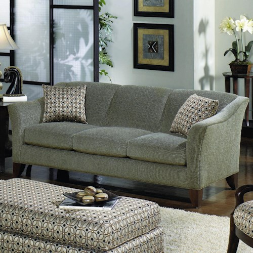 Craftmaster 7844 Stationary Sofa with Flared Arms