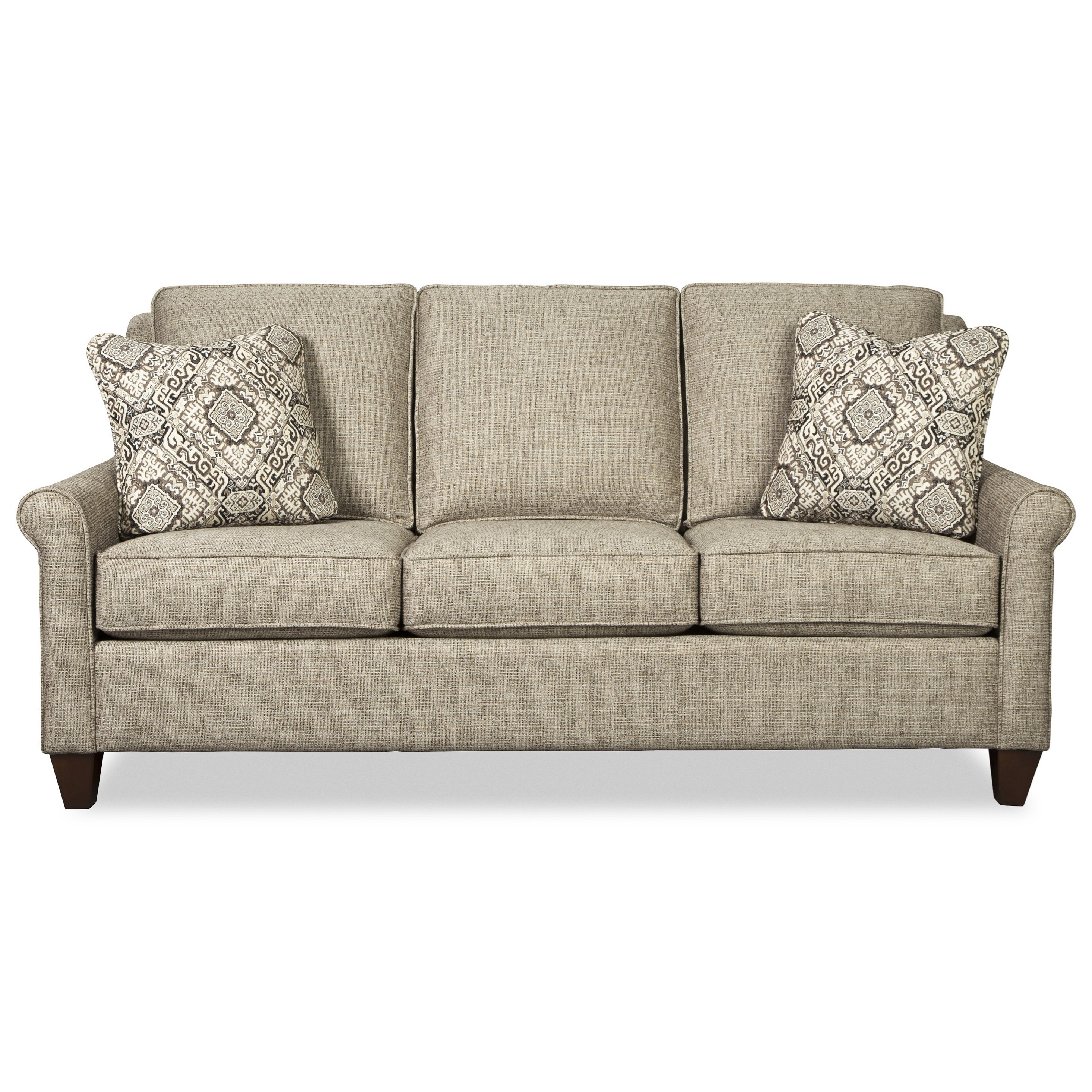 Casual 79 Inch Sofa with Queen Sleeper Mattress