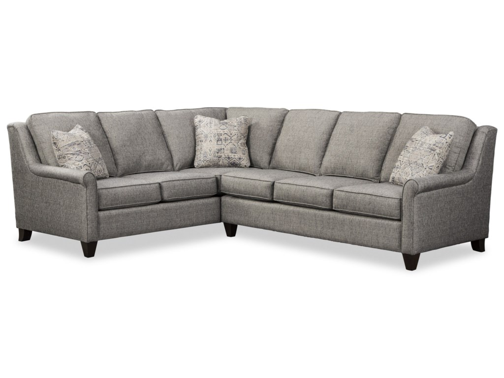 Craftmaster 7848505-Seat Sectional Sofa w/ LAF Return