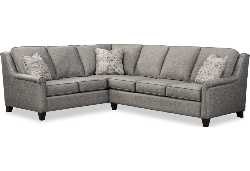 784850 Casual 5-Seat Sectional Sofa with LAF Return Sofa by Craftmaster at  Zak\'s Home