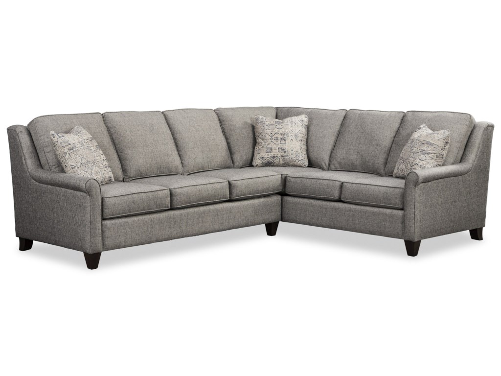 Craftmaster 784850 Casual 5-Seat Sectional Sofa with RAF ...