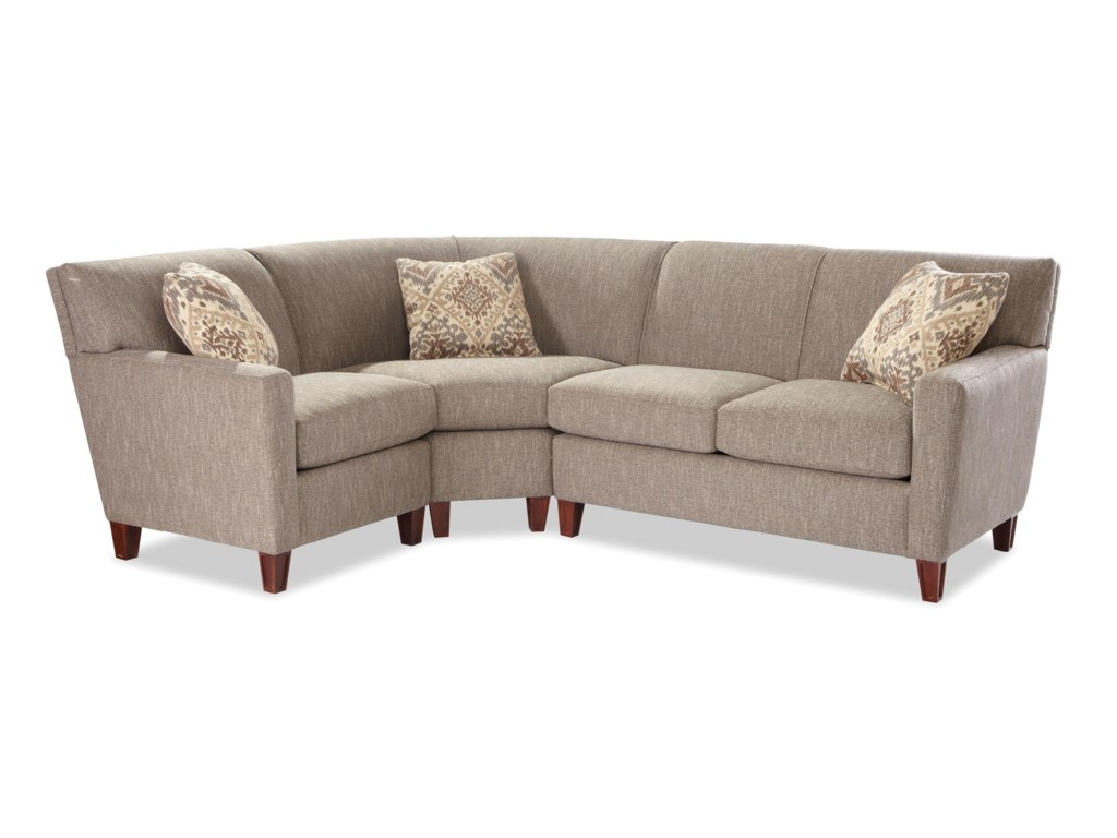 Craftmaster 78643 Pc Sectional Sofa w/ RAF Loveseat
