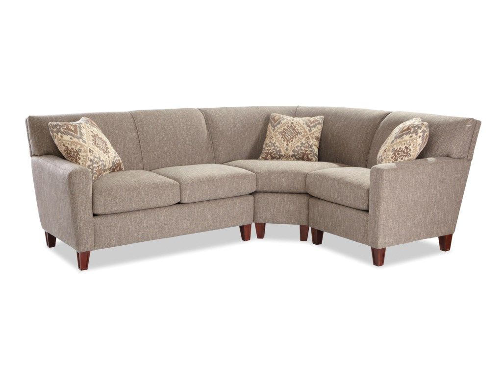 Craftmaster 78643 Pc Sectional Sofa w/ LAF Loveseat
