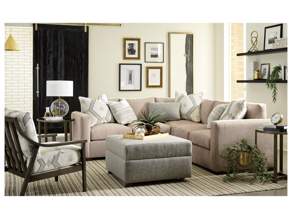 Craftmaster 792750BD2-Piece Sectional with RAF Corner Sofa