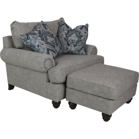 Chair & Half with Ottoman