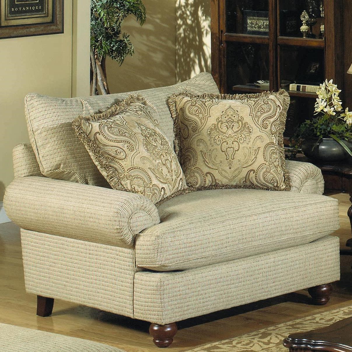 Hickory Craft 7970 Traditional Chair With Exposed Wood